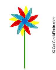 Colorful fan - Colorful vector windmill or flower