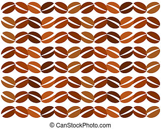 Coffee texture - Coffee beans vector texture