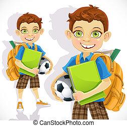CÙte, Chłopiec, student, Plecak