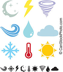 Weather icons - A set of colored icons Weather