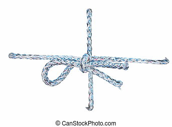 String tied in bow isolated - String tied in a bow isolated...