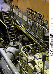 steam turbine at power house
