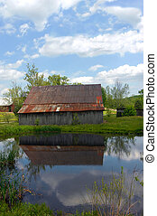 Backroad Tennessee Barn - Tennessee backroad leads past this...