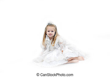 Angel Bride - Angelic child dressed in all white lace and...