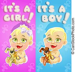 It`s a boy and it`s a girl card - It`s a boy and it`s a girl...