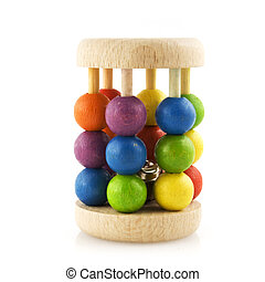baby-rattle - wooden colorful baby rattle