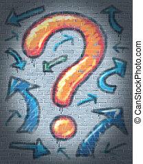 Graffiti Question Mark