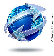 global, réseau, communications