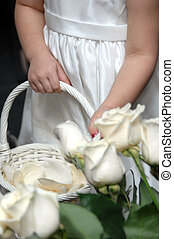 Basket Fill - Small flower girl helps get ready for wedding...