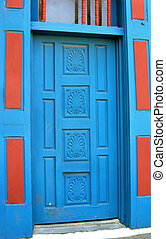 Albuquerque Painted Door - Building in Old Town Albuquerque,...