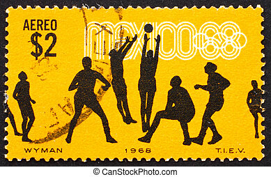 MEXICO - CIRCA 1968: a stamp printed in the Mexico shows...