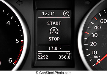 Start Stop technology indicator in dashboard