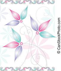 Fancy vector flower design