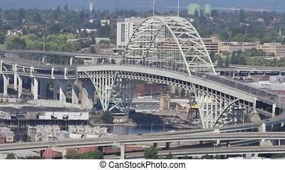 Freemont Bridge in Portland Oregon - Freemont Bridge in...