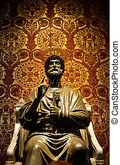 Statue of St. Peter in Vatican (Rome, Italy)