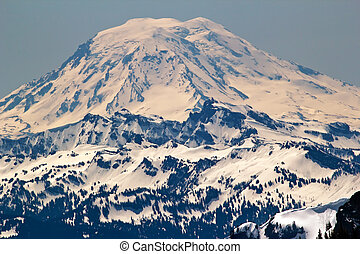 Snowy Mount Saint Adams from Crystal Mountain - Snowy Mount...