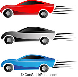 Racing car logo vector