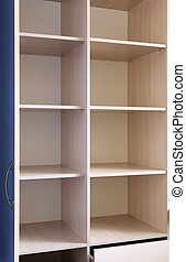 empty wooden furniture - empty wooden shelf in the...
