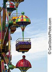 Ferris wheel on a summer day