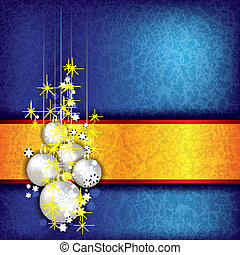 Christmas grunge background with decorations - Abstract...