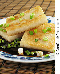 Plate of Taro Cakes - Taro cakes are a common dim sum dish...