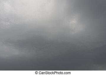 Stratocumulus cloud - Dark grey nimbus cloud