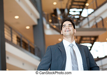 ambitious and optimistic businessman - ambitious and...