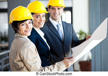 professional construction managers - group of professional...