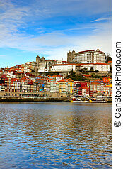 bishops palace and old town of Porto
