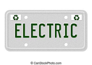 Electric Car License Plate
