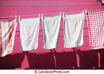 Washing Line In Burano - Colour Co-ordinated Washing in...
