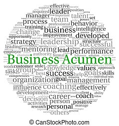 Business Acumen concept in word tag cloud on white...
