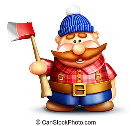 Whimsical Cartoon Lumberjack