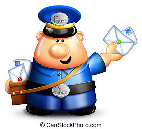 Whimsical Cartoon Mailman