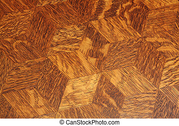 Wood table top background - Wood inlay pattern on an antique...