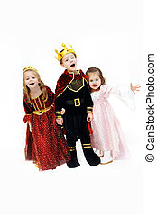Arrogant Trio - King, queen and princess are laughing and...