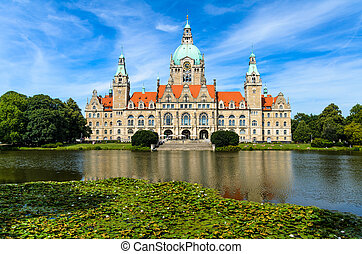 City Hall of Hannover, Germany during summer