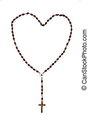 Holy Rosary in a Heart shape.