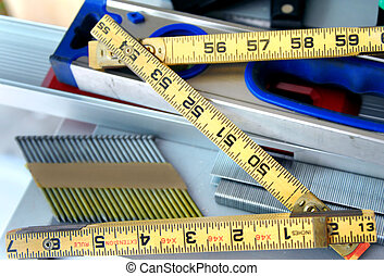 Accuracy Tool - Yellow extension ruler is opened forming the...