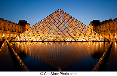 Louvre Museum Paris - PARIS-APRIL 16: Reflection of Louvre...