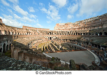 Colosseum - architecture of colosseum or coloseum at Rome...