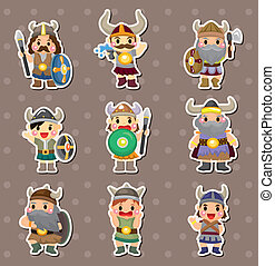 Vikings people stickers