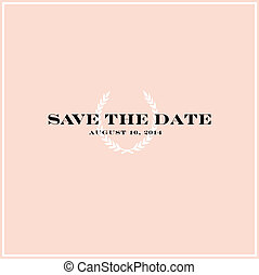 Vector Save the Date Background