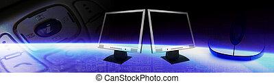 Computer Tech Banner - Header regarding technology and...