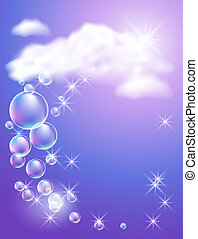 Clouds and sunshine - Sky, clouds, bubbles and sunshine