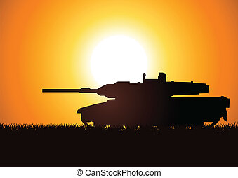 Heavy Artillery - Silhouette illustration of a heavy...