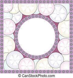 Fancy oval frame