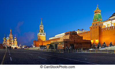 Red Square in night. Moscow. Russia