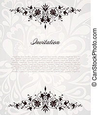 Vintage floral frame Vector background illustration -...