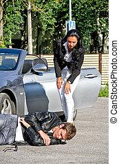 femininas, motorista, knoched, BAIXO, macho, peão